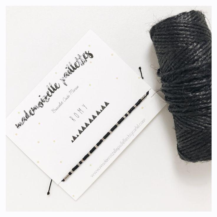 Image of Bracelet men code morse •PERSONNALISÉ•