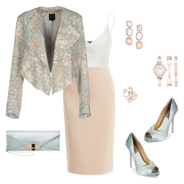 """""""Leopard With A Twist"""" by loveleelove ❤ liked on Polyvore featuring Doublju, WtR, Silvian Heach, Badgley Mischka, Anne Klein, Roberto Coin, Ted Baker and Marchesa"""