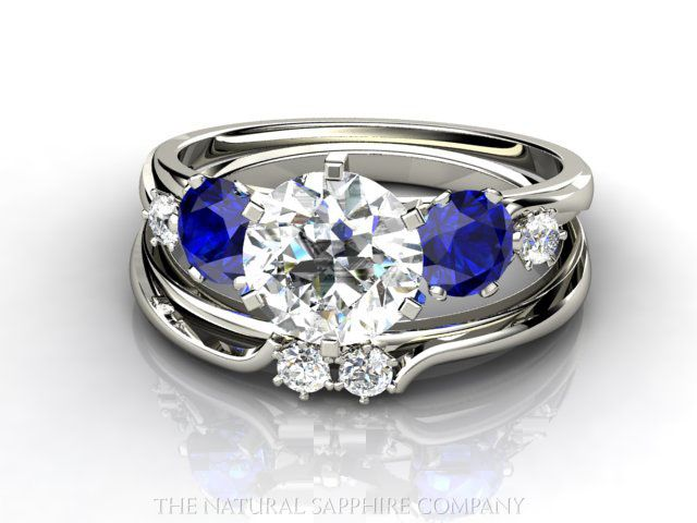 Sapphire Wedding Ring... Could do with any side stones, maybe bride and groom's birthstones for something different?