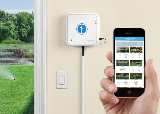 Schedule watering from your smartphone with a systemlike theRachio Iro 8 Zone Wi-Fi Intelligent Irrigation Controller. Using weather data and modern irrigation techniques, the Rachio Iro creates a custom watering plan for your yard. Learn more about watering your garden while you're away at The Home Depot's Garden Club.