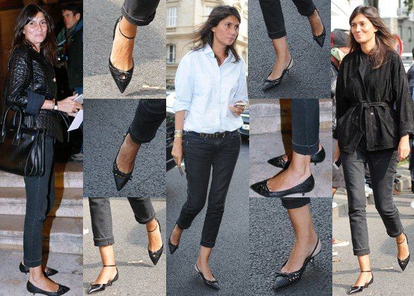 Emmanuelle Alt 2014 | Emmanuelle Alt proves that kitten heel pumps work with so much more ...