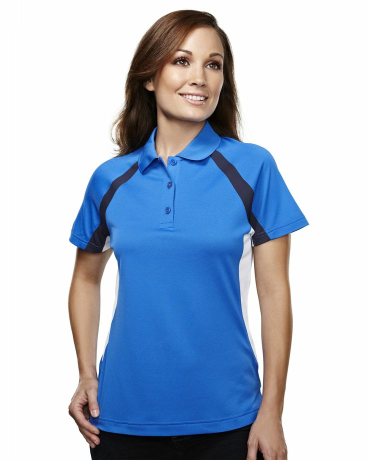 Women's 100% Polyester Knit Polo Shirts  Tri mountain 016
