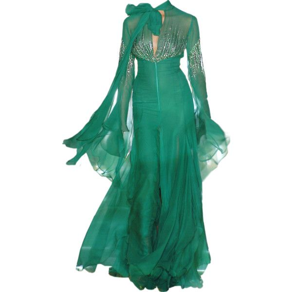 edited by Satinee - Elie Saab collection ❤ liked on Polyvore featuring dresses, gowns, long dresses, elie saab, elie saab dresses, long green evening dress, elie saab evening dresses, green dress and long green dress