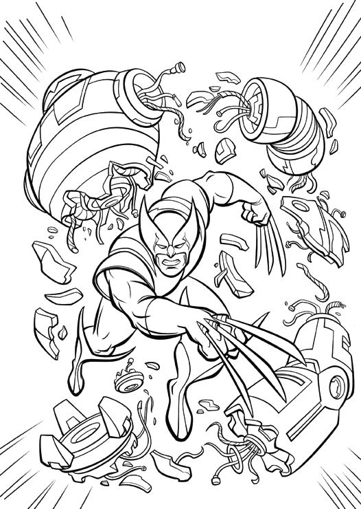 a powerful x men coloring pages - Coloring Pages For Men