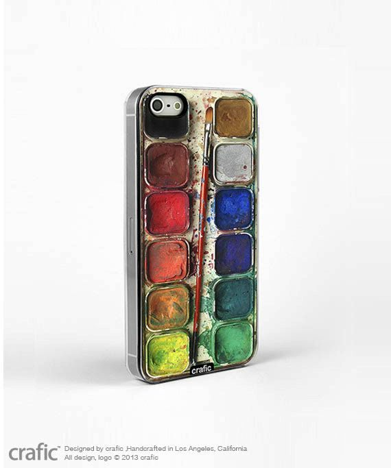 Watercolor Set iPhone 5 / 5S Case Artistic iPhone 4 case by CRAFIC, $23.50...if I could get something like this when I get my new phone...