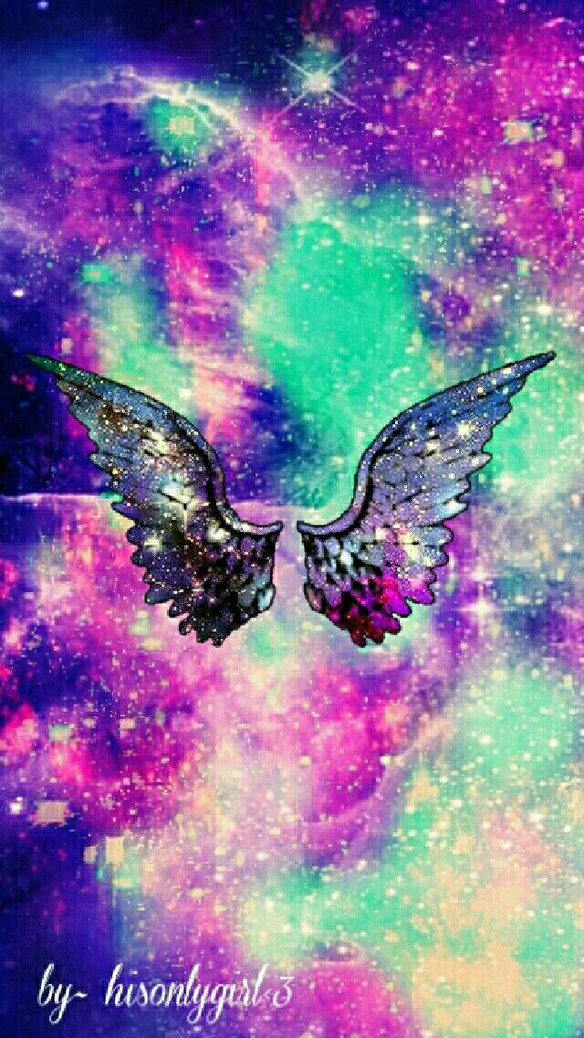 Wings galaxy wallpaper I created for the app CocoPPa