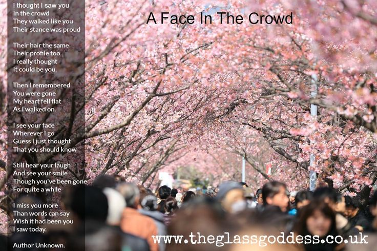 A Face In The Crowd Memorial Poem, Celebration Of Life, In Loving Memory, Funeral