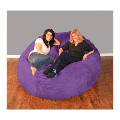 Bay Isle Home Breton Bean Bag Lounger Upholstery: Micro Suede - Purple, Size: 7'