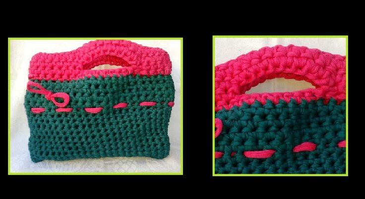 Handmade crochet bag.