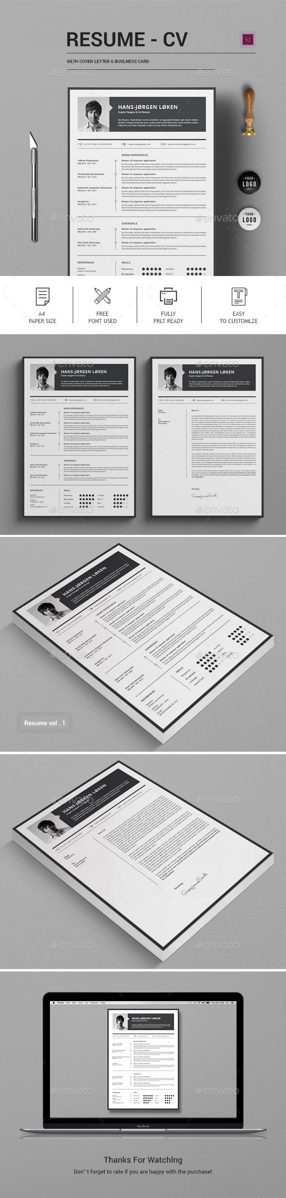 Buy CV by moverick on GraphicRiver This