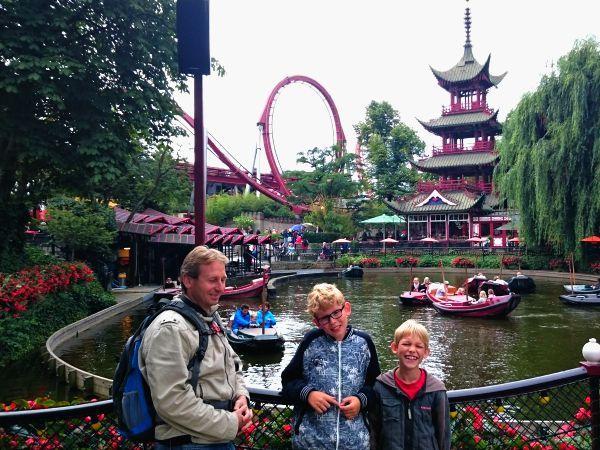 Het Oosterse deel van het prachtige Tivoli park