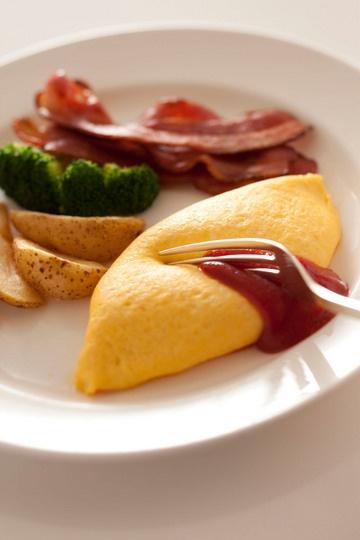 Egg Omelette, Tokyo New Otani Hotel's Super Breakfast|ニューオータニのスーパーブレックファスト