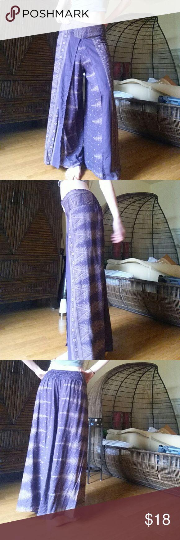 Purple palazzo pants 100% cotton Never worn Pants Wide Leg