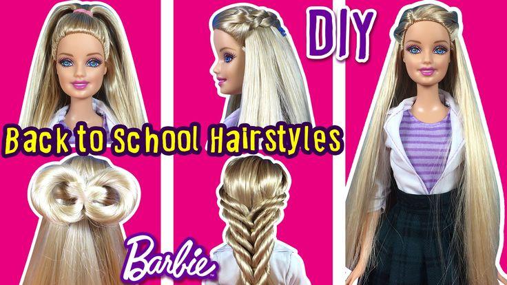 Back To School Hairstyles of Barbie Doll - DIY Barbie Hair Tutorial - Ma...