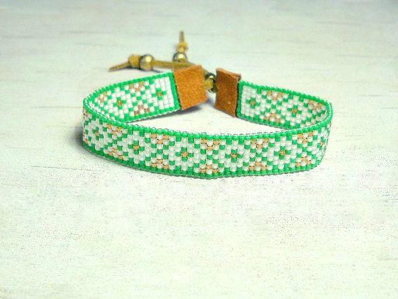 Seed Bead Bracciale  braccialetto con perline di SKBeadedJewelry
