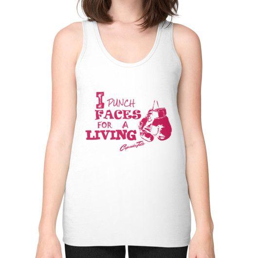 Miesha tate new shirt Unisex Fine Jersey Tank (on woman)