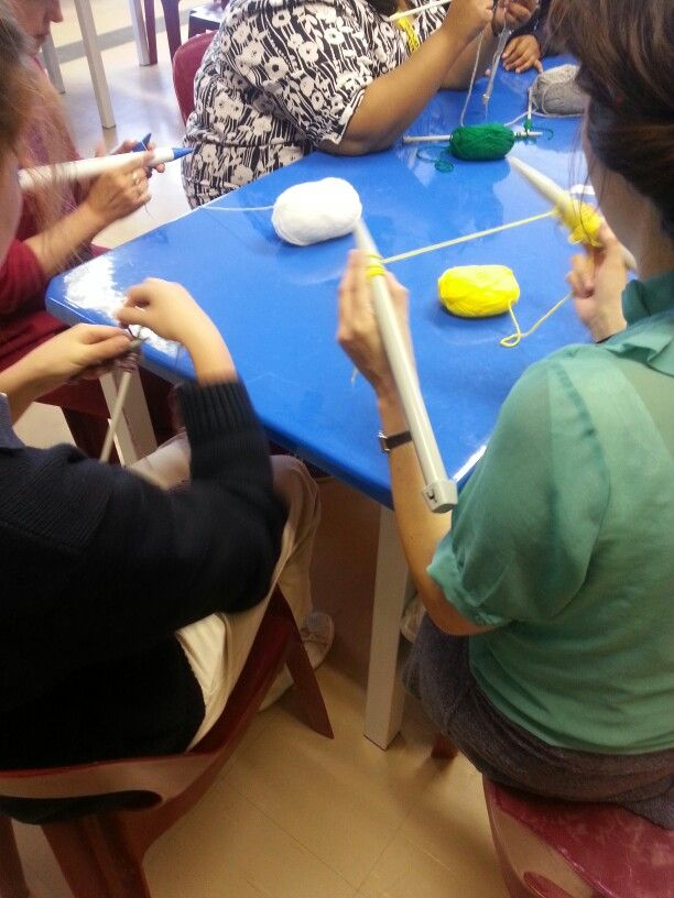 Teaching students to knit