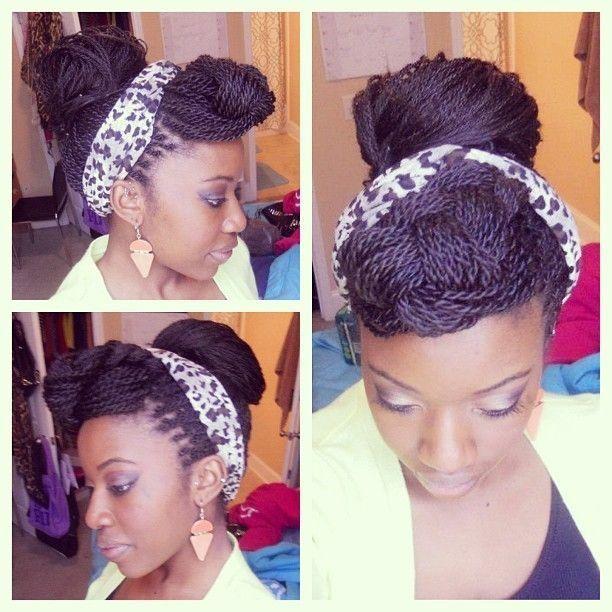 senegalese twist styles | Styling Senegalese twist, very cute. | Natural Hair Hairstyles