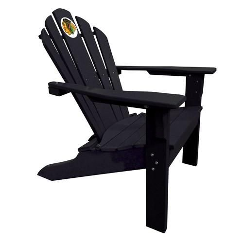 Chicago Blackhawks Big Daddy Adirondack Chair-Black