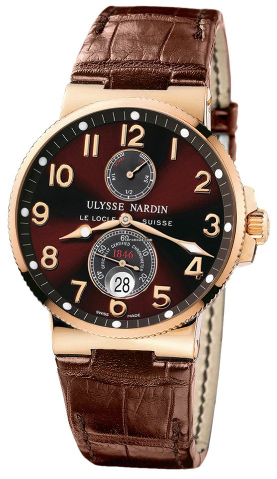 Ulysse Nardin Maxi Marine Chronometer 41mm pink gold   www.ChronoSales.com for all your luxury watch needs, sign up for our free newsletter, the new way to buy and sell luxury watches on the internet. #ChronoSales
