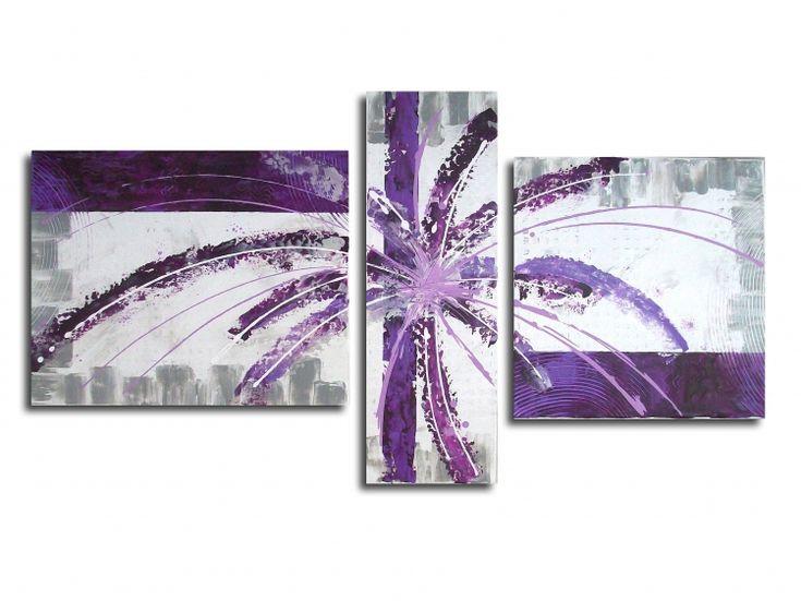 art violet tableau | TABLEAU PEINTURE peinture violet mauve blanc ...