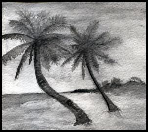 how to sketch a beach, draw a realistic beach step 2