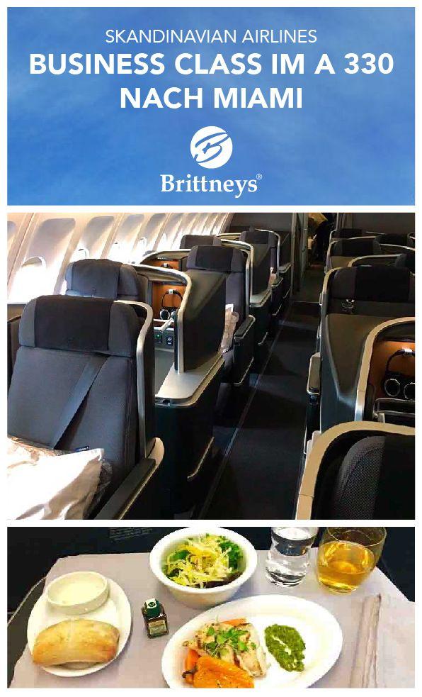 SAS Business Class - Erfahrungsbericht: Düsseldorf - Miami. 2016 hat Skandinavian Airlines (SAS) die Kabine seiner Langstreckenflugzeuge modernisiert. 2016 ist die Strecke Kopenhagen – Miami neu aufgenommen worden. Ich war eine der ersten Passagiere. Mein Freund flog in der Eco Saver Plus - ein Vergleich.