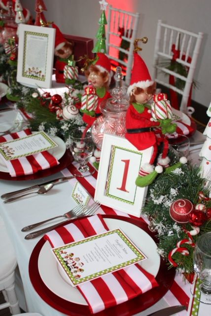 Elf on the Shelf themed table