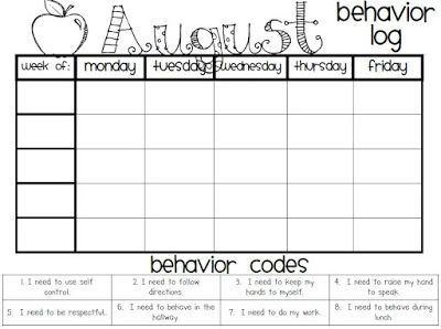 Monthly Behavior Charts from The Polka Dot Patch