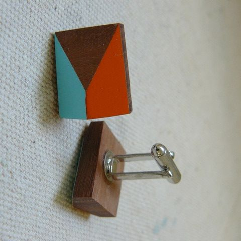 SHOP@Craft - Treehorn Design - Wooden Cufflinks