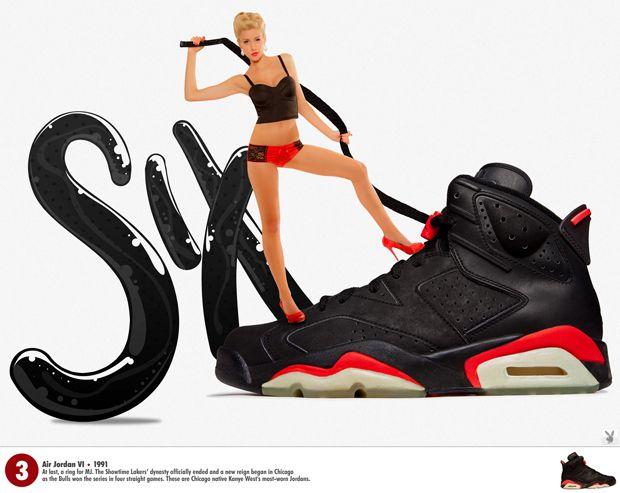 Air Jordan VI black / infrared X Playboy Solemate