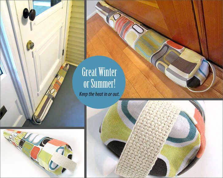 Door Draft Guard for Winter and Summer   Sew4Home