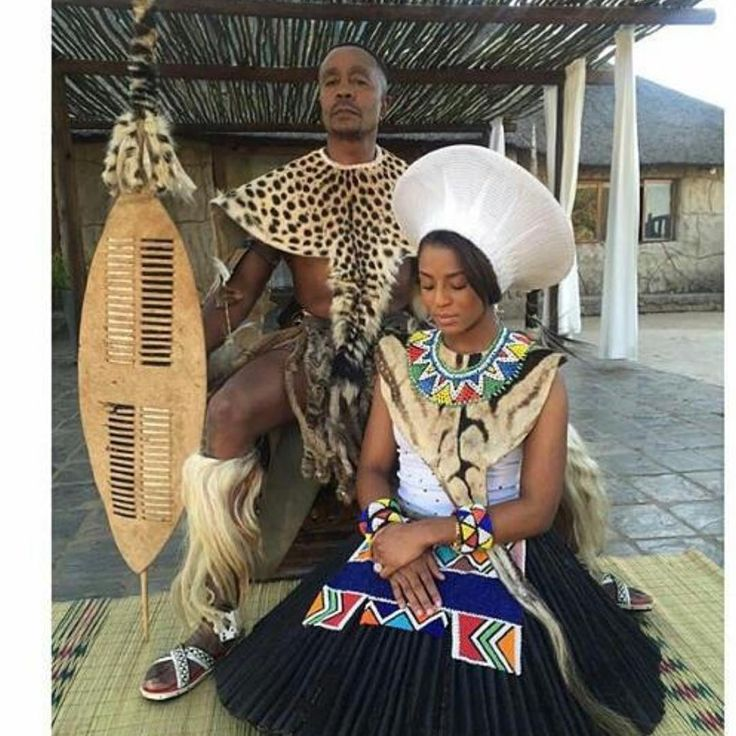 Bride&Groom #Zulu #weddingattire