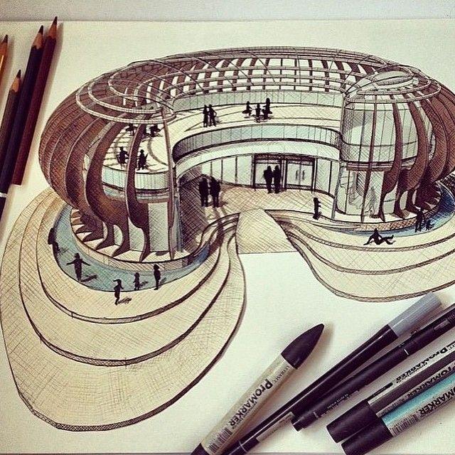 By @lauraillidge #sketch_arq #architecture #design #ideas #architecturestudent…