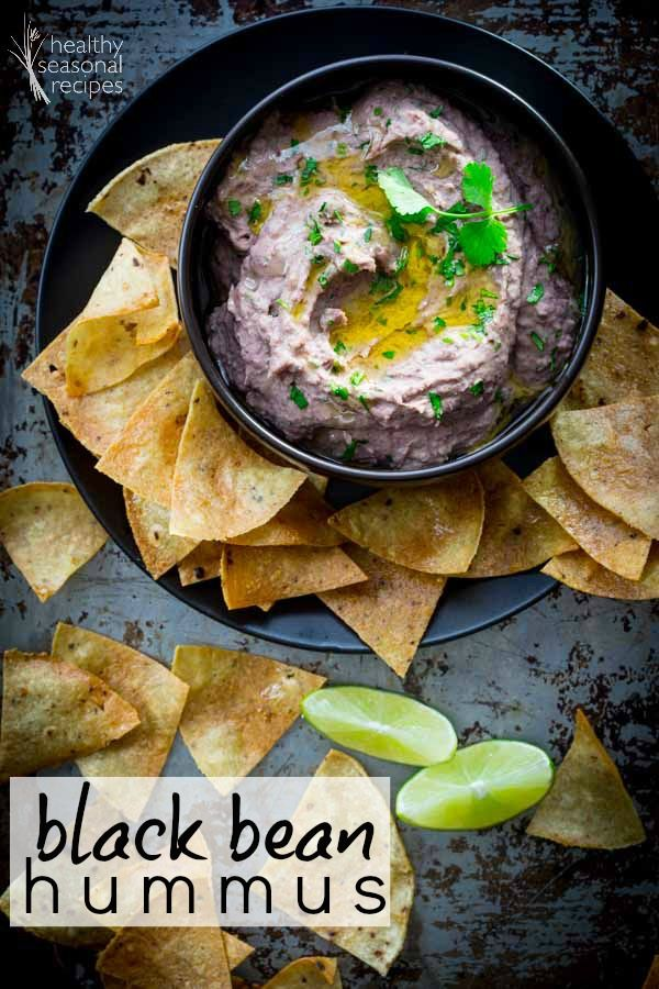 A twist on classic hummus! This is Black Bean Hummus made with cilantro and lime and it is so yummy. Only 10 minutes to make and it is gluten-free and vegan.