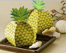 Tropical Treats Pineapple Favor Box - Luau Favor Boxes for Party