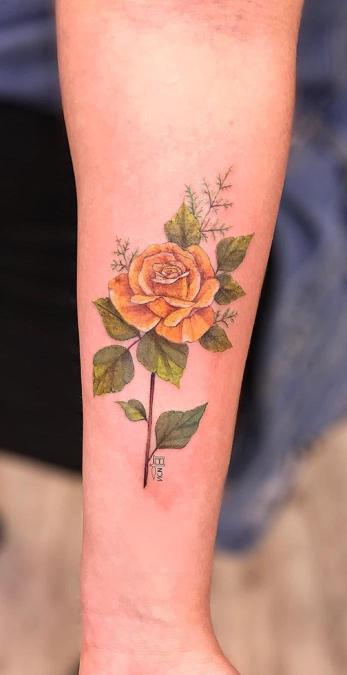 Yellow Rose Tattoo C Tattoo Artist Vic Nascimento Rose Tattoos For Men Yellow Rose Tattoos Rose Tattoos For Women