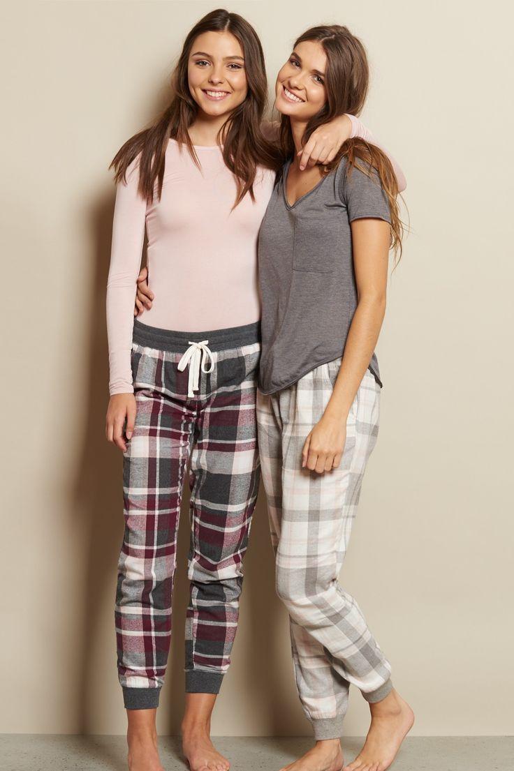 Slouchy Plaid Pajama Pants