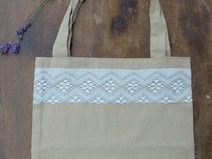 Bawełniana torba z koronką