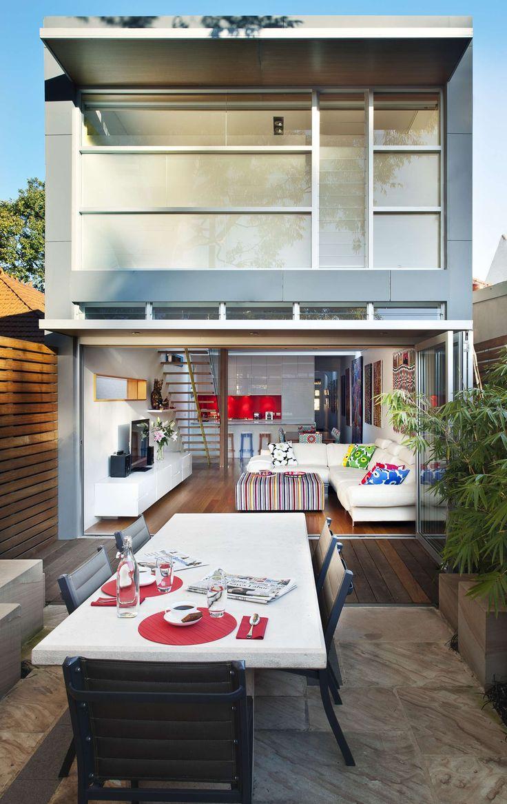 Saln Abierto A Patio House Leichhardt By Rolf Ockert Design