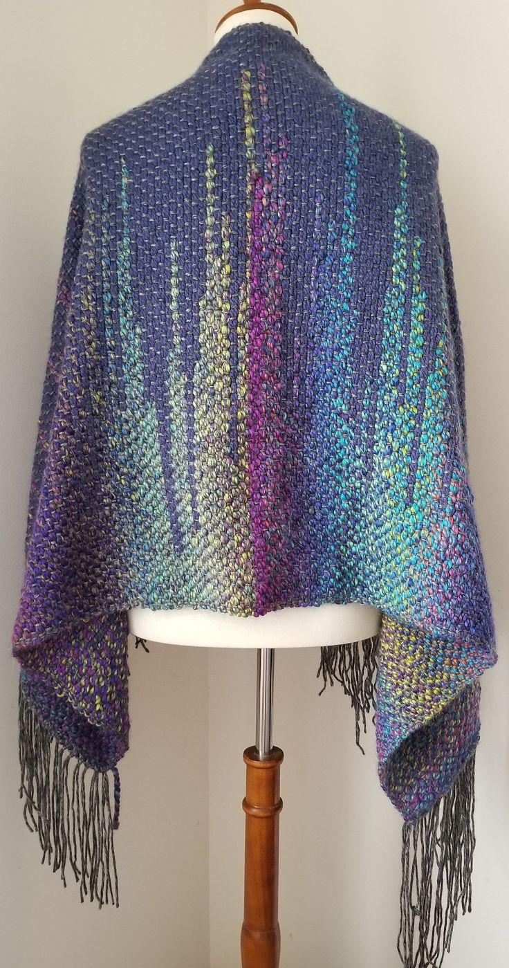 Handwoven scarf woven rigid heddle loom weaving over sized
