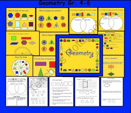 Smartboard Interactive Geometry lessons with printable pages product from Teaching-The-Smart-Way on TeachersNotebook.com