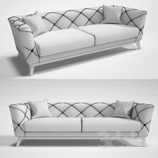 3d models: Sofa - On perezalivke