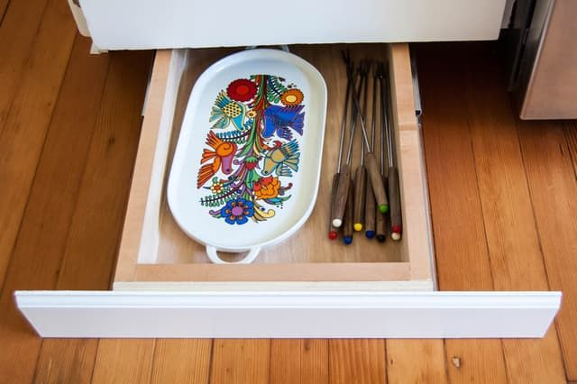 Under-Cabinet Toe-Kick Drawers. It's invisible if you don't know it's there, so it's perfect for secret storage. Larger, more practical toe-kick drawers could actually be a