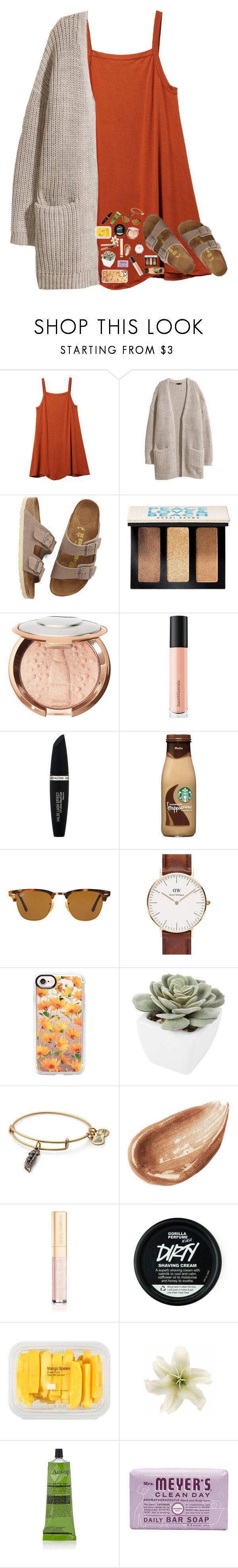 """Going to see the new Star Wars movie this afternoon!!"" by kat-attack ❤ liked on Polyvore featuring RVCA, H&M, Birkenstock, Bobbi Brown Cosmetics, Sephora Collection, Bare Escentuals, Max Factor, Ray-Ban, Daniel Wellington and Casetify"