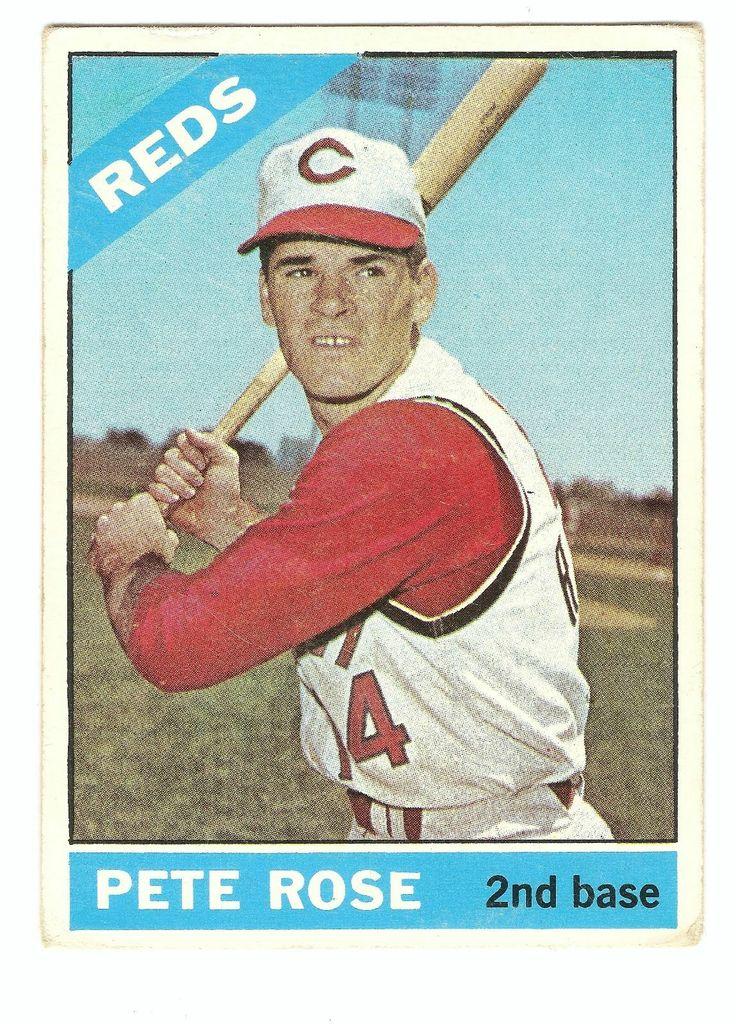 Pete Rose 1966 Topps Baseball Card Baseball cards, Pete