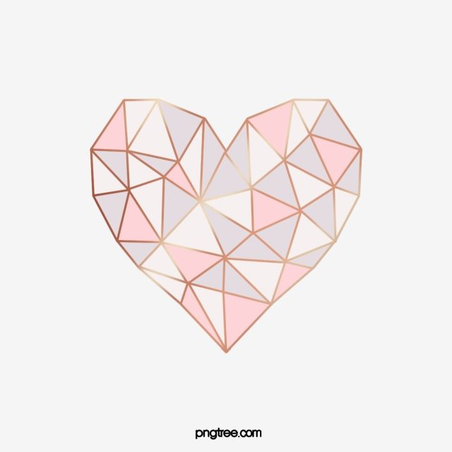 Heart Shaped Geometric Gold Pattern Valentine Gloss Heart Love Png Transparent Clipart Image And Psd File For Free Download Geometric Heart Heart Wall Art Geometric Arrow and heart pinkwhitegold wallpaper