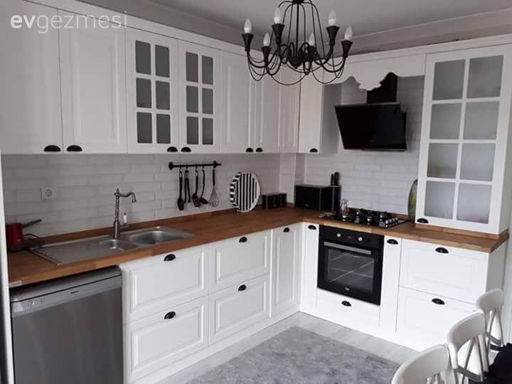 Beyaz Mutfak Dolaplari 1000 Beyaz Mutfak Modeli Ev Gezmesi Ic Tasarim Mutfak Mutfak Tasarimlari Luks Mutfaklar