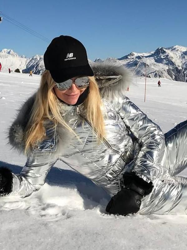 091b89a90 Onesies Silver & Gold Waisted Goose Down Ski Suit in 2019 | Things ...