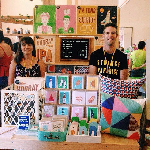 We're open for business @finders_keepers ! Come say hi in room 2. #brisbanefinderskeepers #art #design